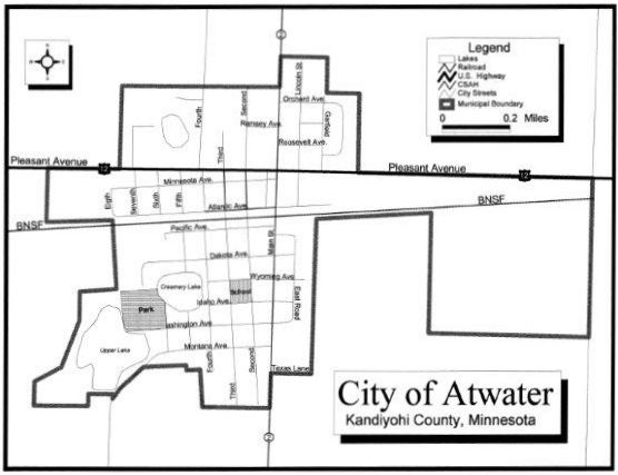 map of Atwater